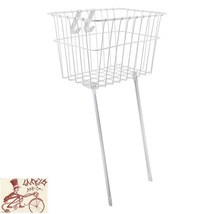 WALD #135 DEEP FRONT WIRE BLACK BICYCLE BASKET