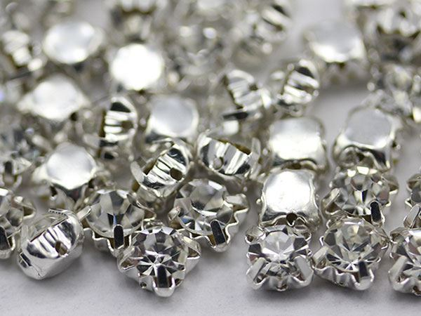 7.20mm SS35 Crystal Sew on Diamante Rhinestone  - 25 PCS