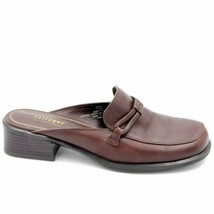 Villager by Liz Claiborne Rapid Women Mule Loafers Size US 7.5M Brown Leather - $45.99
