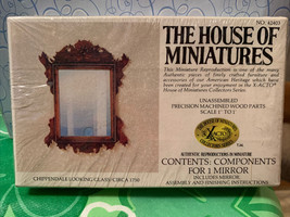 Dollhouse House of Miniatures Chippendale Looking Glass Mirror Circa 1750 42403 - $19.99
