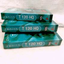 BRAND NEW Zenith HQ High Quality T-120 Blank VHS Video Tapes 6 Hour EP Mode X3 image 4