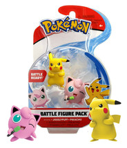 Pokemon Jigglypuff and Pikachu Battle Figure Pack Battle Ready! New in P... - $14.88