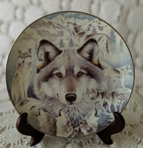 """1996 Bradford Exchange """"Vision Of The Pack"""" 1ST Issue In """"Window To Soul Plate - $17.45"""