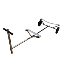 "Stainless Steel Boat Launching Trailer Hand Dolly for Inflatable with 16"" Wheels image 1"
