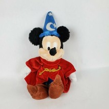 "Disney Parks 13"" Plush Fantasia Sorcerer Mickey Mouse Stuffed Animal - $19.34"