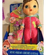 NEW Baby Alive Mix My Medicine Baby Doll with Dinosaur Pajamas Drinks & Wets NIP - $36.77