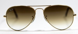 Ray Ban 3025 001/51 Black Aviator Sunglasses 58mm New and Authentic - $80.14
