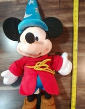 "Disney Store EXC Mickey Mouse Club Sorcerer Fantasia 24"" (60.96 CM) Plus... - $15.83"