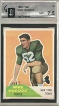 1960 Fleer #23 Mike Hudock GAI 7.5 NEAR MINT + - $39.59