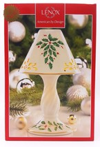 Lenox Christmas Holiday Holly Tea Light Candle Lamp 10 inch New - $62.39