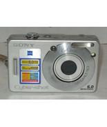 Sony Cyber-shot DSC-W70 7.2MP Digital Camera - Silver - $35.06