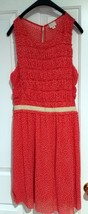 POSTMARK 9-HI5 STCL Anthropologie Coral Polka Dot Sleeveless Knit Dress size L - $18.99