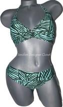 NWT NANETTE LEPORE XS multi-color swimsuit bikini halter tropical green ... - $87.29