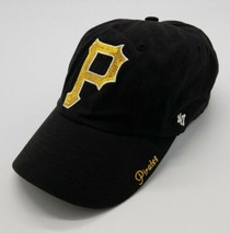 Pittsburgh Pirates MLB Sparkle '47 Brand Clean Up Women's Adjustable Hat Black - $21.66