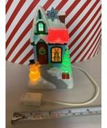 Hallmark Caroling Cottages Season's Greetings 2009 1st Music Lights Home... - $70.13