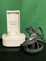 White Microsoft Xbox 360 Quick Charge Controller Charger Dock Kit OEM Original - $14.99