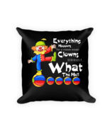 Funny Clowns pillow - Square Pillow Case w/ stuffing - $23.00