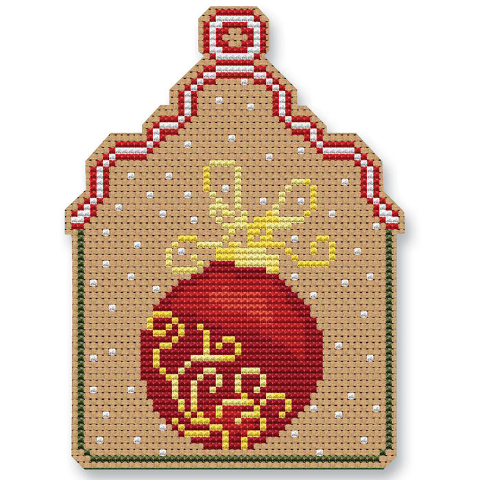 Christmas Ball Ornament Kit cross stitch Colonial Needle