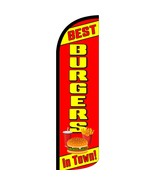 Best Burgers In Town Stay-Open Swooper Flag Only: Fast 2 Day Shipping! - $28.00