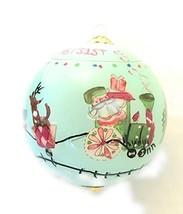 Pier 1 Li Bien 1st Baby Handmade Glass Ball Christmas Tree Ornament 2019... - $14.82