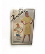 Simplicitu 9975 Misses Jiffy Pullover Dress Or Tunic Vintage Sewing Pattern - $15.83