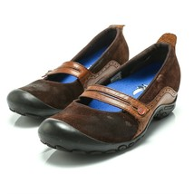 Merrell Plaza Bandeau Espresso Brown Suede Leather Mary Jane Shoes Women... - $24.61