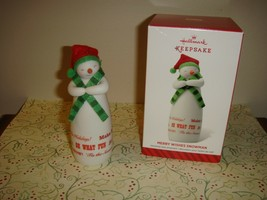 Hallmark 2014 Merry Wishes Snowman Limited Edition Ornament - $11.99