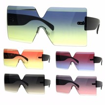 Flat Panel Shield Oceanic Robotic 80s Futurist Disco Funk Sunglasses - $13.95