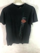 Men's Med Harley Davidson Black Pocket T-shirt Tire Tread Fort Thunder M... - $12.82