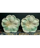 Pair Of Vintage McCoy Rustic Flower Wall Pocket Vase MINTY! - $123.34 CAD
