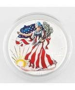 1999 1oz American Silver Eagle Pintado con Estuche y Certificado - $79.40