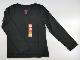 7cfdb626b Faded Glory Girl's Long Sleeve V-Neck T-Shirt solid