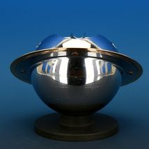 Art Deco 1939 Revere Saturn Syle Nickel Plated Brass & Copper Ash Tray Receiver image 6