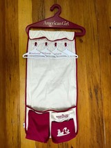 Retired American Girl Hanging Storage Organizer and 4 Doll Clothes Hangers - $19.79