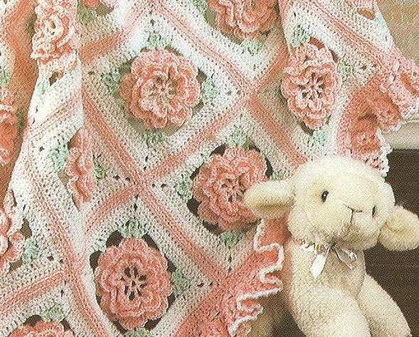 Ruffles Roses Baby Afghan Crochet And 50 Similar Items