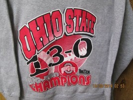 Ohio State Buckeyes Sweatshirt Large Gray Color Big Ten Champion 13-0  N... - $8.50