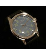 Vintage men's blue dial serviced 1970's HMT Pilot 17J military wristwatch - $69.30