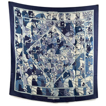 Authentic Hermes Rare Vintage Blue Silk Scarf Ali Baba 1972 Pierre Peron - $381.15