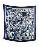Authentic Hermes Rare Vintage Blue Silk Scarf Ali Baba 1972 Pierre Peron - $381.15