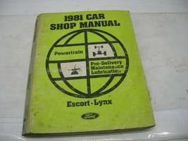 Ford 1981 Car Shop Manual, Escort-Lynx - $14.84