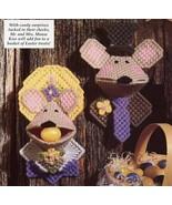 Easter Kisses Mr & Mrs Mouse Kissies Squeezies Plastic Canvas Pattern Le... - $1.50
