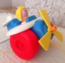 Fisher Price Pull-Along Plane #2017 VINTAGE 1980 - $5.63