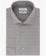 Calvin Klein Purple Multi Check Steel Slim-Fit Stretch Non-Iron Dress Shirt - $21.95