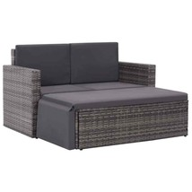 vidaXL Outdoor Sofa Set 7 Pieces Poly Rattan Wicker Outdoor Lounge Furni... - $235.99