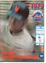 1979 NEW YORK METS PROGAM & SCORECARD-SHEA STADIUM-TICKET STUB ATTACHEDM... - $30.56