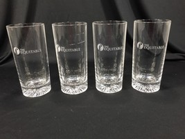 (4) Vintage Heavy Bar High Ball Glasses Clear - The Equitable - $29.99