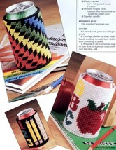 Beverage Can Covers Teacher School Plastic Canvas Pattern 30 Days To Sho... - $0.90