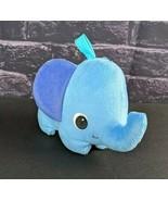 "Kids 2 Plush Blue Elephant Sound 6"" Stuffed Animal Lovey Purple Ears Toy... - $4.95"