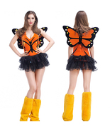 Butterfly Fairy Adult Costume Halloween Cosplay Fancy Dress Skirt Wig - $41.44