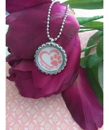 Dog Mom Personalized Bottle Cap Necklace (Birthstone Options) - $6.30+
